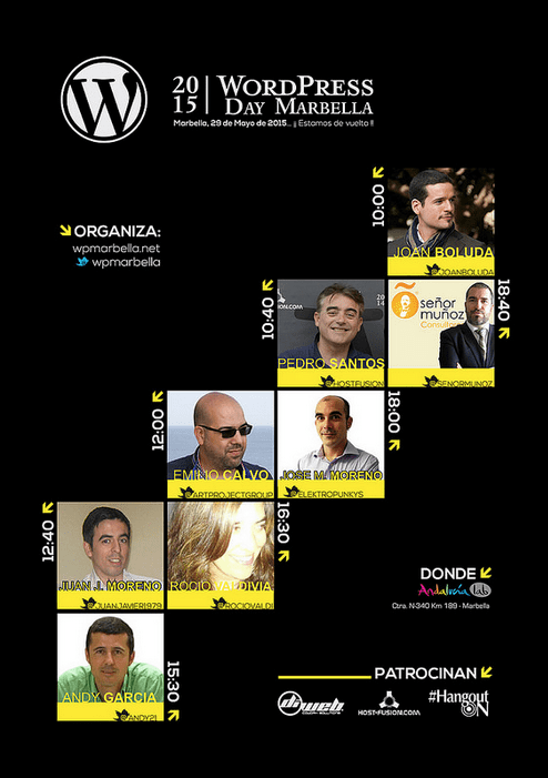 Ponentes WordPress Day Marbella